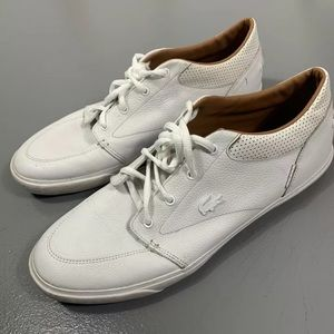 LACOSTE 11.5 bayliss white lace up casual shoes